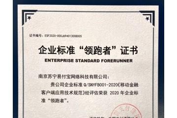 """苏宁金融编制移动金融技术规范 成为企业标准""""领跑者"""""""